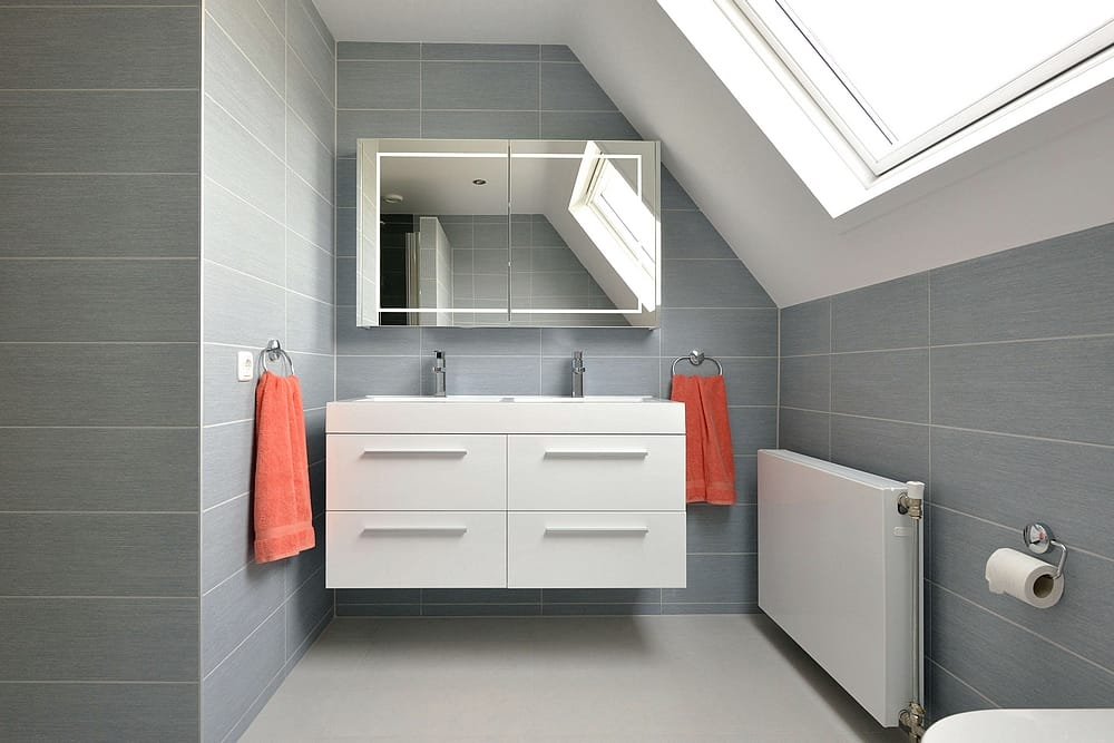 Kleurrijke badkamer · doorSchor